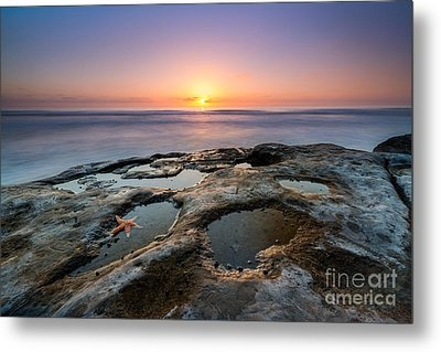 Tide Pool Sunset Metal Print by Michael Ver Sprill