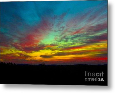 Metal Print featuring the photograph Tie Dyed Sunrise by Geri Glavis