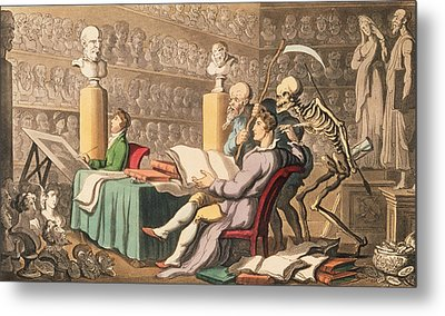 Time And Death Their Thoughts Imparton Metal Print by Thomas Rowlandson