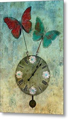 Time Flies Metal Print by Aimelle