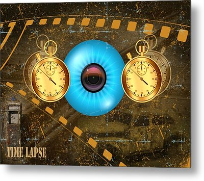Time Lapse Metal Print by Diskrid Art