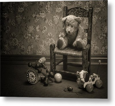 Time Out - A Teddy Bear Still Life Metal Print by Tom Mc Nemar