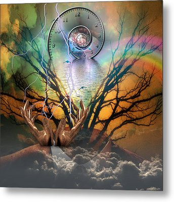 Time Spiral Metal Print by Bruce Rolff