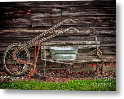 Time To Plow Metal Print by Marion Johnson