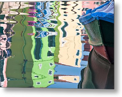 Timeless Colors Of Burano Metal Print by Joan Herwig