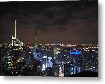 Times Square At Night Metal Print by Robert  Moss