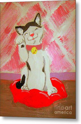 Metal Print featuring the painting Tinkadinkadoo by Wendy Coulson