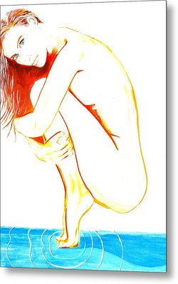 Metal Print featuring the painting Tippy Toes by J Anthony