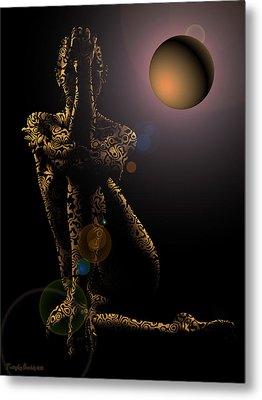 Tiptop Shape Night. 2013 60/80 Cm.  Metal Print by Tautvydas Davainis