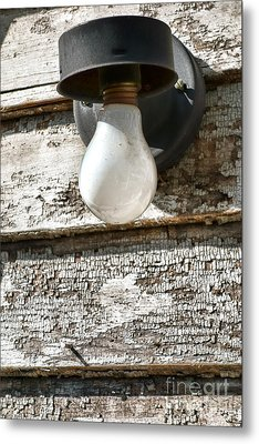 Tired Light Bulb Metal Print by Olivier Le Queinec