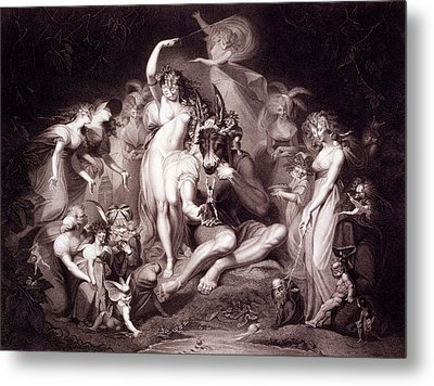 Titania, Bottom And The Fairies, Act 4 Metal Print