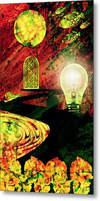 Metal Print featuring the mixed media To The Light by Ally  White