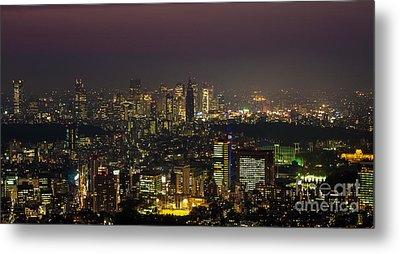 Tokyo City Skyline Metal Print by Fototrav Print