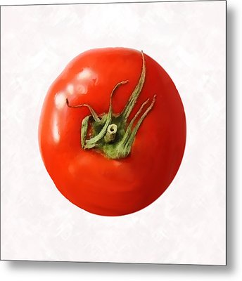 Metal Print featuring the digital art Tomato by David Blank