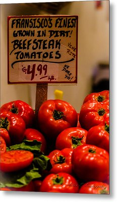 Metal Print featuring the photograph Tomatoes by Allen Biedrzycki