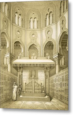 Tomb Of Sultan Qalaoun In Cairo Metal Print by French School