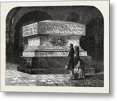 Tomb Of The Late Duke Of Wellington In The Crypt Of St Metal Print