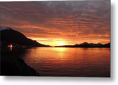 Metal Print featuring the photograph Tongass Narrows Sunrise On 12/12/12 by Karen Horn
