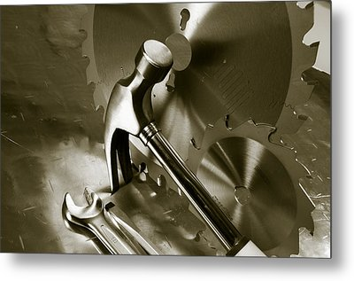 Tools And Stainless-steel Idea Metal Print