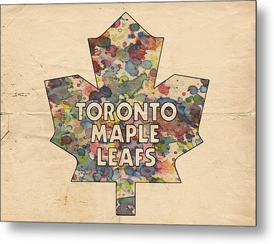 Toronto Maple Leafs Hockey Poster Metal Print