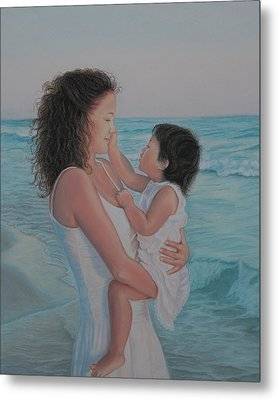 Touched By An Angel Metal Print by Holly Kallie