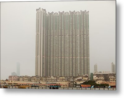 Tower Block Accommodation Kowloon Metal Print by Ashley Cooper