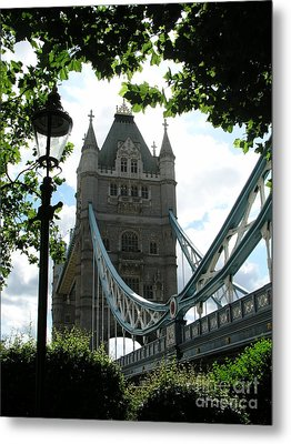 Metal Print featuring the photograph Tower Bridge by Bev Conover