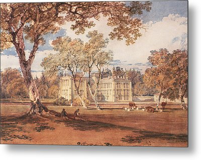 Towneley Hall, C.1798 Metal Print by Joseph Mallord William Turner