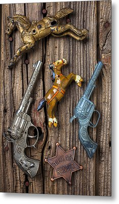 Toy Guns And Horses Metal Print by Garry Gay
