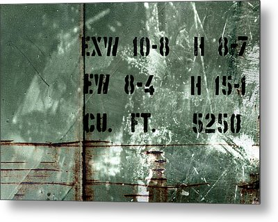 Train Plate One Metal Print by April Lee