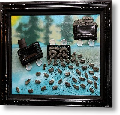 Train Train Go Away And Leave Our Kids A Place To Play Metal Print by Crush Creations