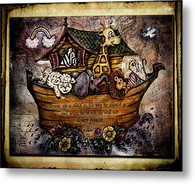 Train Up A Child Desat Metal Print by La Rae  Roberts
