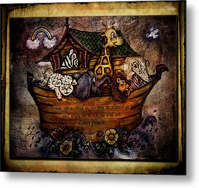 Train Up A Child Metal Print by La Rae  Roberts