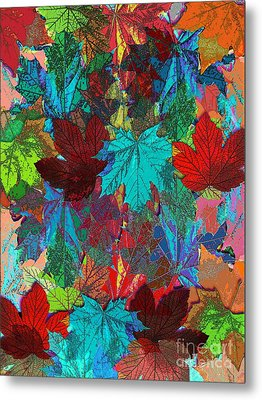 Tree Leaves Metal Print by Klara Acel