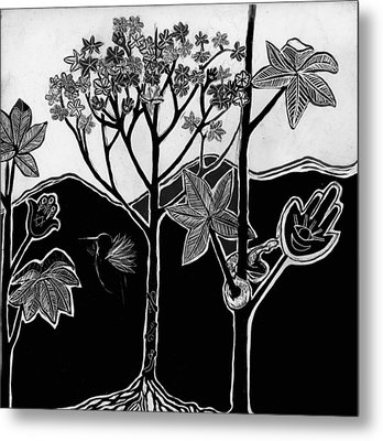 Metal Print featuring the drawing Tree Of Life by Aurora Levins Morales
