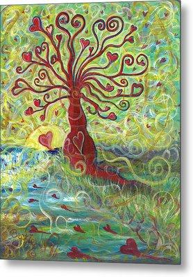 Tree Of Love  Metal Print by Beckie J Neff