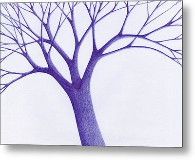 Metal Print featuring the drawing Tree - The Great Hand Of Nature by Giuseppe Epifani