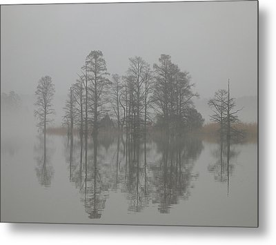 Metal Print featuring the digital art Trees In The Mist  by Claude McCoy
