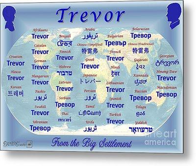 Trevor Metal Print by J McCombie