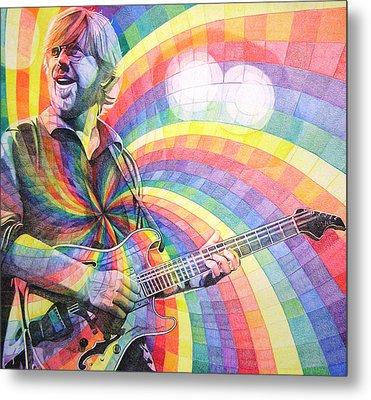 Trey Anastasio Rainbow Metal Print by Joshua Morton
