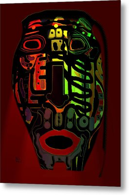 Tribal Mask Metal Print by Natalie Holland