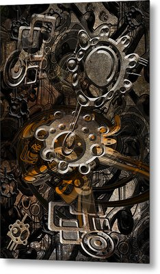 Metal Print featuring the digital art Trip 9 by Andy Walsh