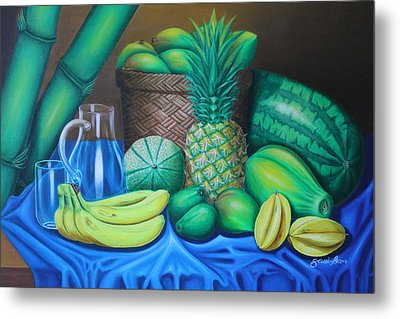 Tropical Fruits Metal Print by Gani Banacia