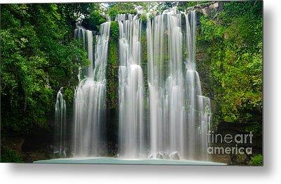 Tropical Waterfall Metal Print by Oscar Gutierrez