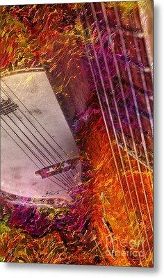 Truly Southern Digital Banjo And Guitar Art By Steven Langston Metal Print by Steven Lebron Langston