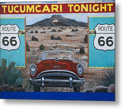 Tucumcari Tonight Mural On Route 66 Metal Print by Carol Leigh