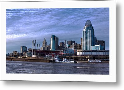 Tug Boat Passing Great American Metal Print by Tom Climes