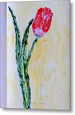 Tulip For You Metal Print by Sonali Gangane
