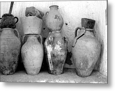 Metal Print featuring the photograph Tunisian Pottery by Randi Grace Nilsberg