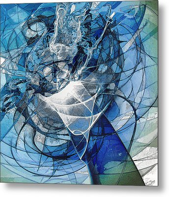 Turbulence Metal Print by Reno Graf von Buckenberg